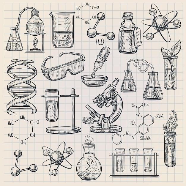 Chemie-symbol Kostenlosen Vektoren