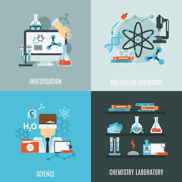 Chemie wohnung set Kostenlosen Vektoren