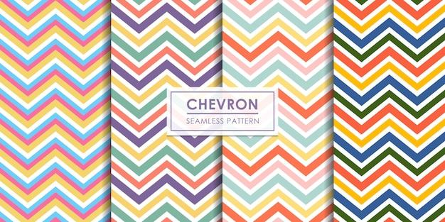 Chevron nahtlose mustersammlung Premium Vektoren