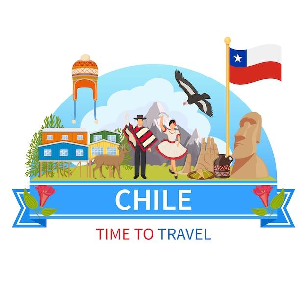 Chile zusammensetzung Kostenlosen Vektoren