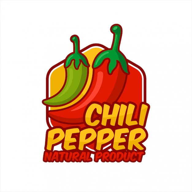Chili peppers naturproduktdesign Premium Vektoren