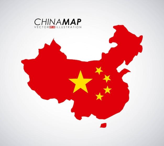 China-design über grauer hintergrundvektorillustration Premium Vektoren