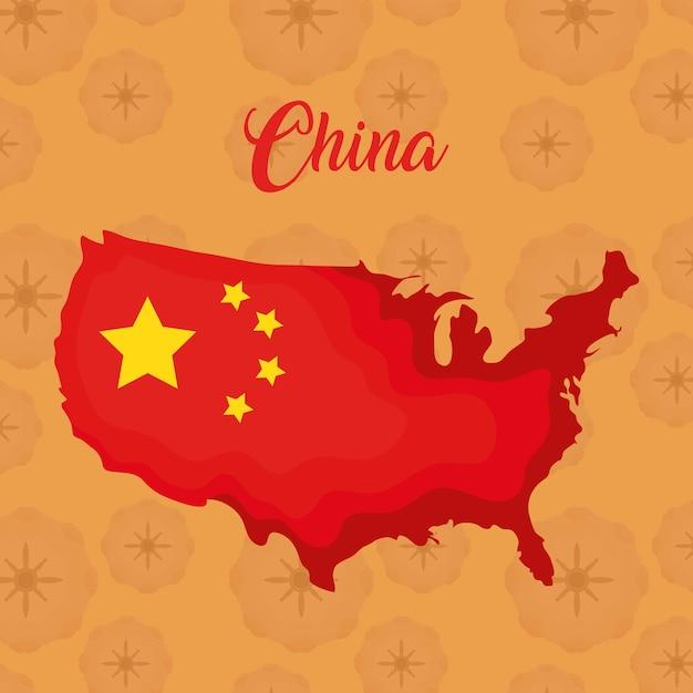 China-flaggendesign Premium Vektoren