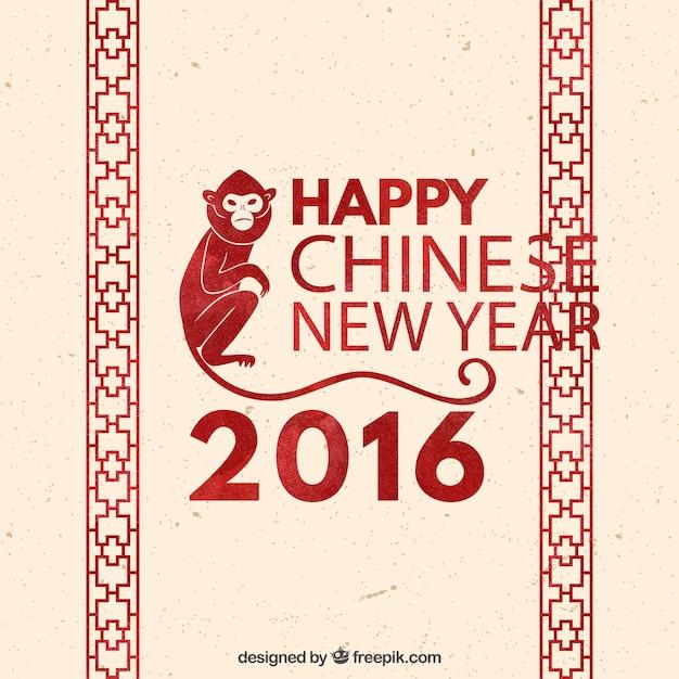 Chinese New Year Hintergrund mit roten Dekoration | Download der ...
