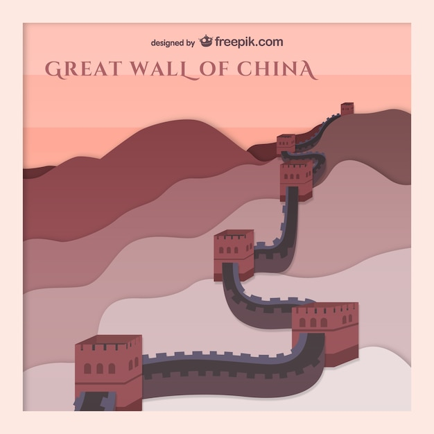 Chinesische mauer Kostenlosen Vektoren