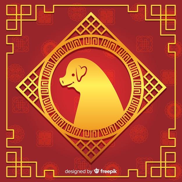 Chinesischer Hintergrund des neuen Jahres 2019   Download der ...