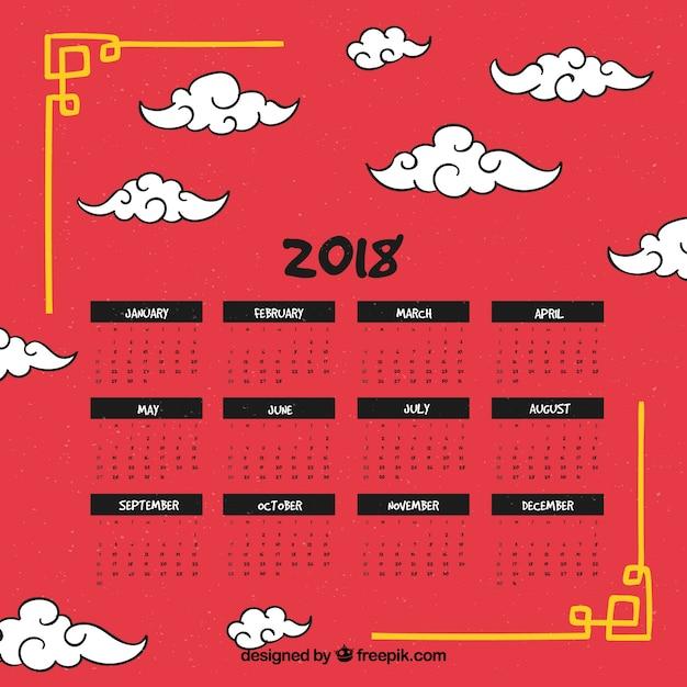 Chinesischer Kalender 2018 des neuen Jahres | Download der ...