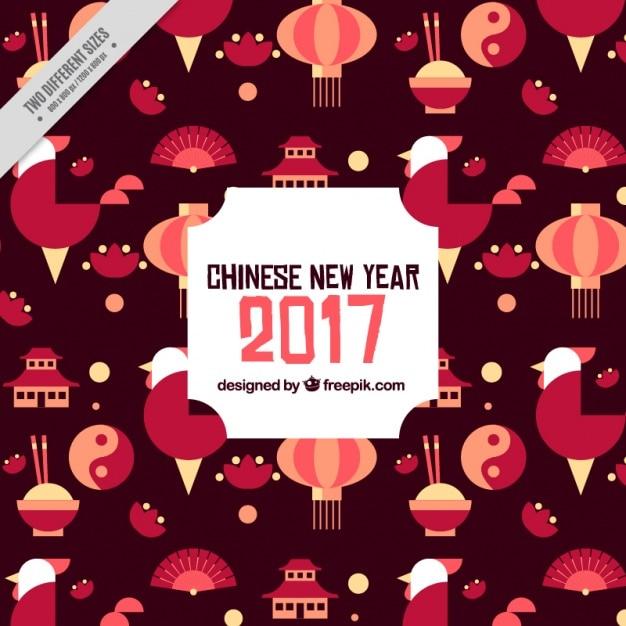 Chinesisches Neujahr Hintergrund in Brauntönen | Download der ...