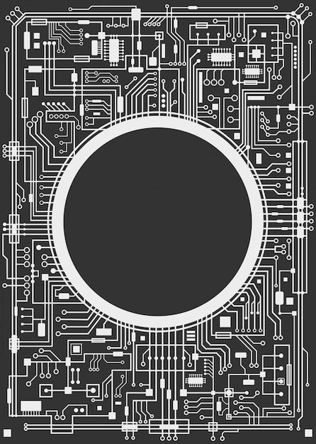 Chipsatz digitaler hintergrund Premium Vektoren