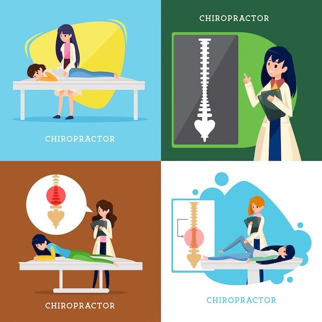 Chiropraktiker-vektor-design Premium Vektoren
