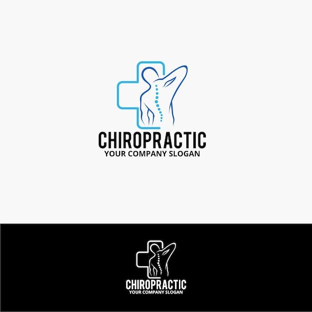 Chiropraktisches logo Premium Vektoren