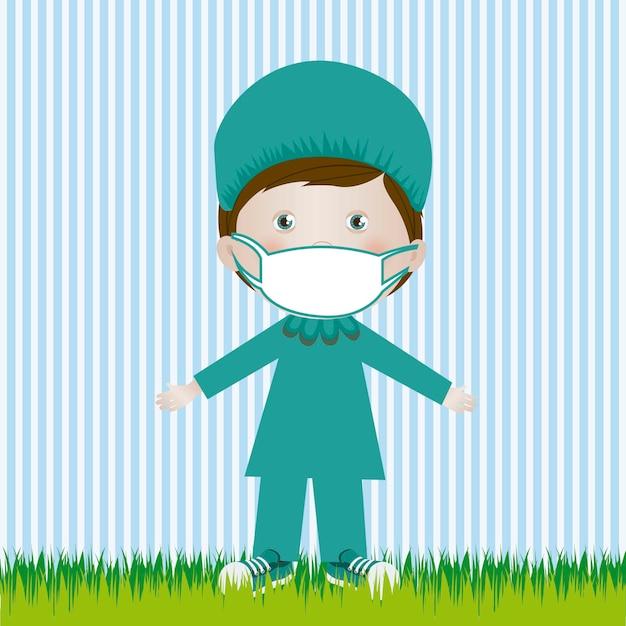 Chirurg mann Premium Vektoren