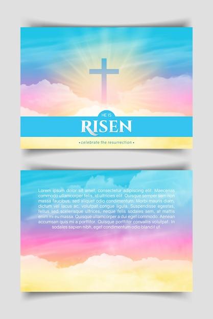 Christliches religiöses design. horizontales plakat. Premium Vektoren