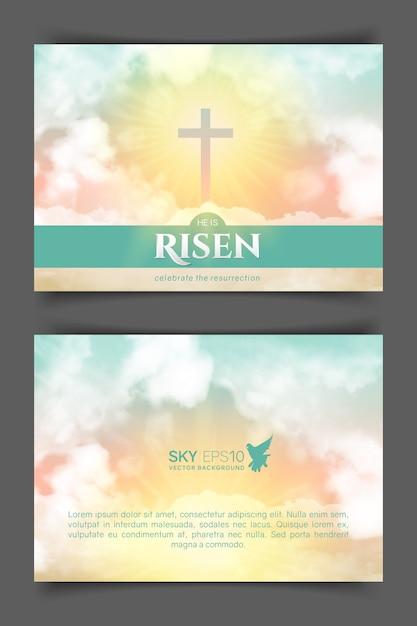 Christliches religiöses design. Premium Vektoren