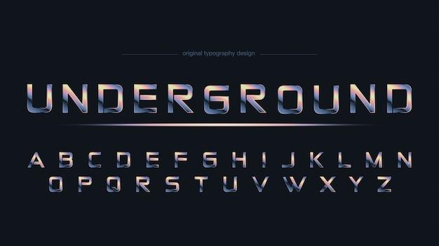 Chrome abstract sports typografie Premium Vektoren