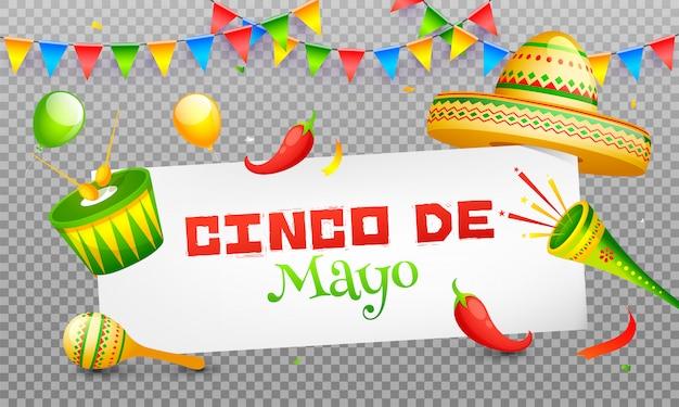 Cinco de mayo celebration header banner oder plakatgestaltung Premium Vektoren