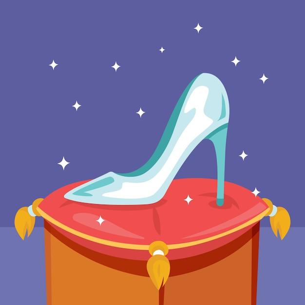 Cinderella glasschuh Kostenlosen Vektoren