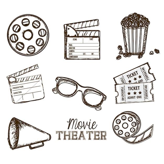Cine-symbole Premium Vektoren