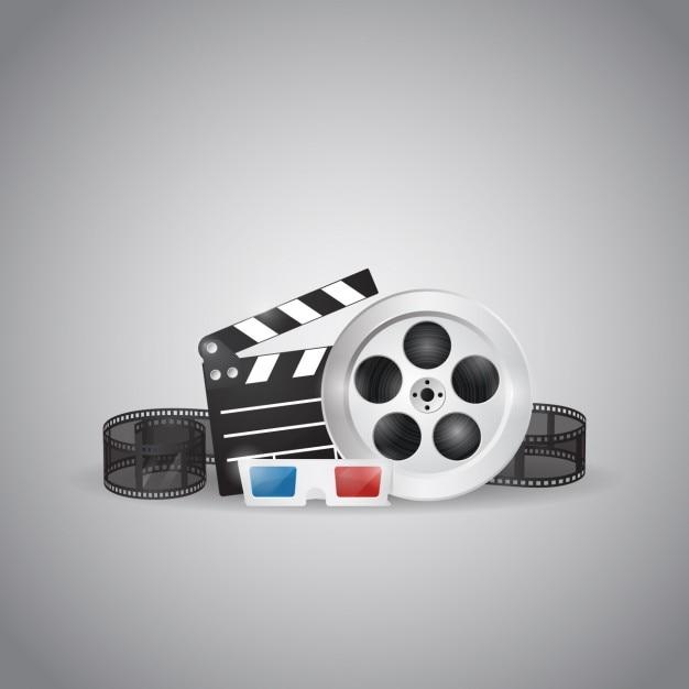 Cinema design-elemente Kostenlosen Vektoren