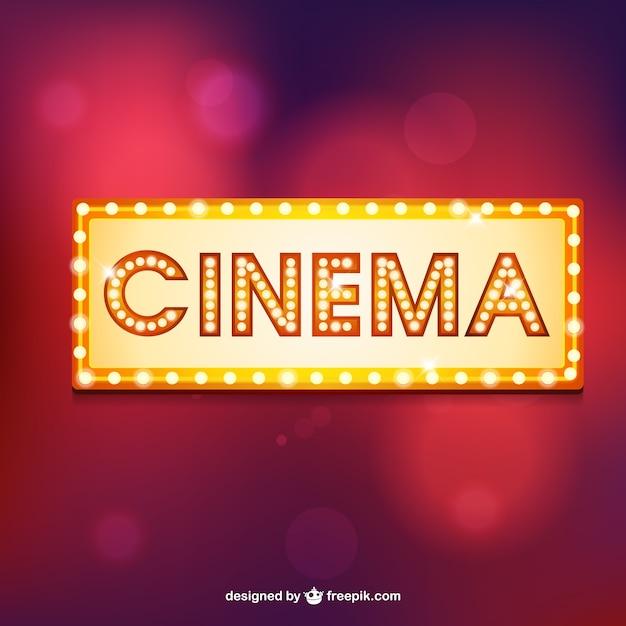 Cinema retro-festzelt Kostenlosen Vektoren