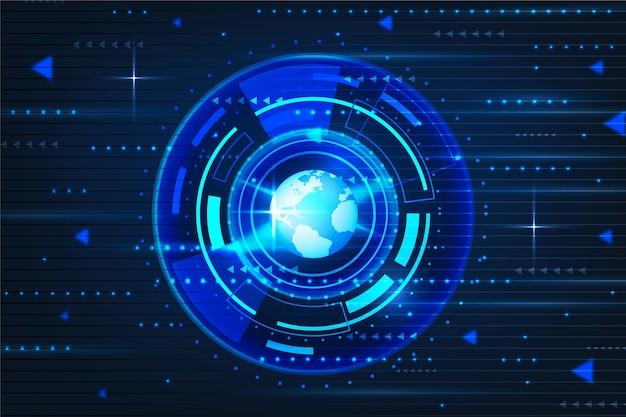 Circuit cyber eye technologie hintergrund Kostenlosen Vektoren