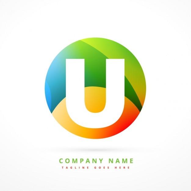 Circular bunten logo mit anfangs u Kostenlosen Vektoren
