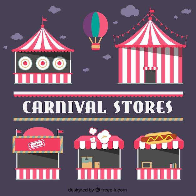 Circus speichert packen Kostenlosen Vektoren
