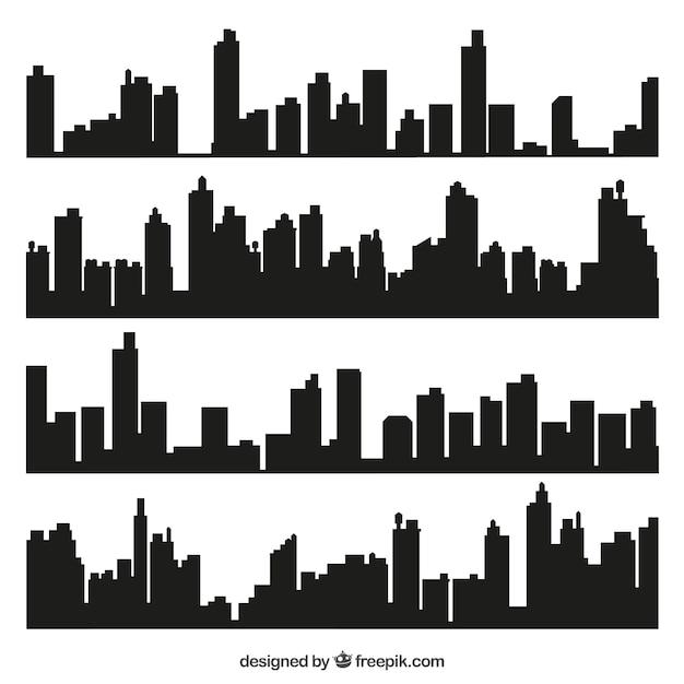 City skylines Kostenlosen Vektoren