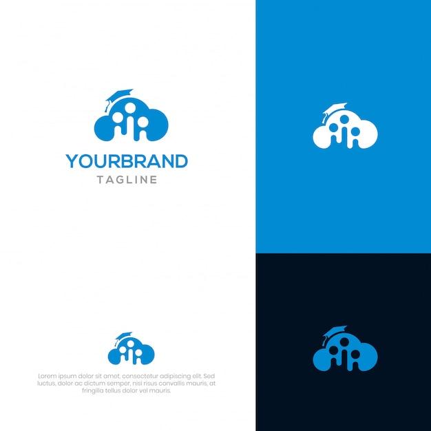 Cloud academy-logo-vorlage Premium Vektoren