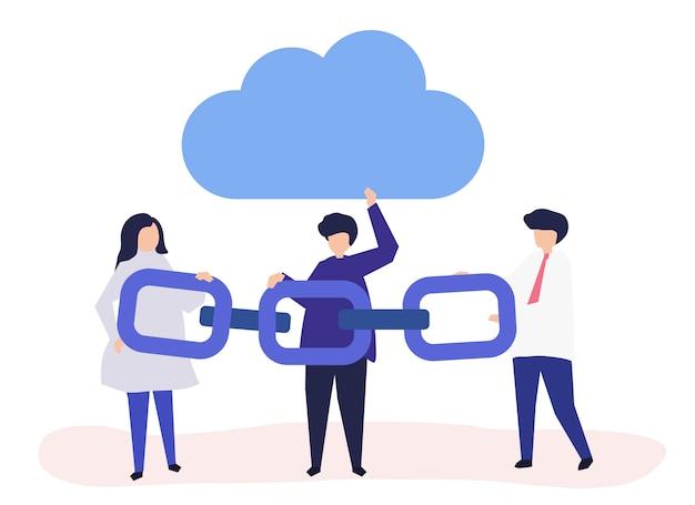 Cloud-computing-konzept Kostenlosen Vektoren