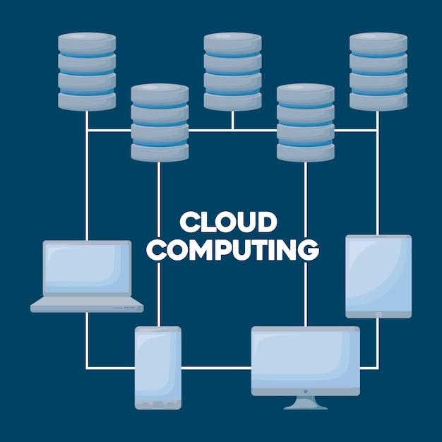 Cloud computing Kostenlosen Vektoren