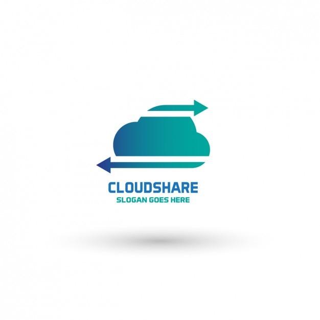 Cloud-Logo-Vorlage   Download der kostenlosen Vektor