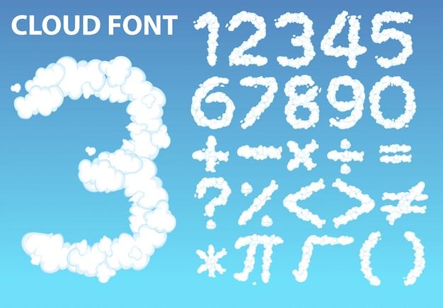 cloud nummer schriftart und mathe symbol download der kostenlosen vektor. Black Bedroom Furniture Sets. Home Design Ideas