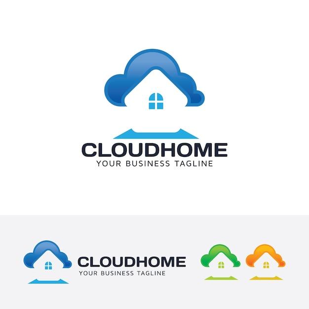 Cloud-startseite-vektor-logo-vorlage Premium Vektoren
