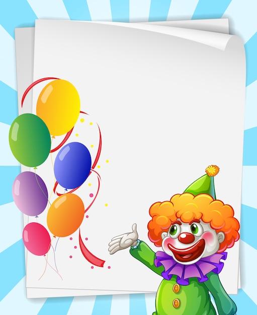 Clown einladung Kostenlosen Vektoren