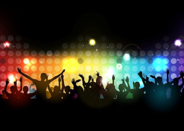 Club party mit tanzenden menschen Premium Vektoren