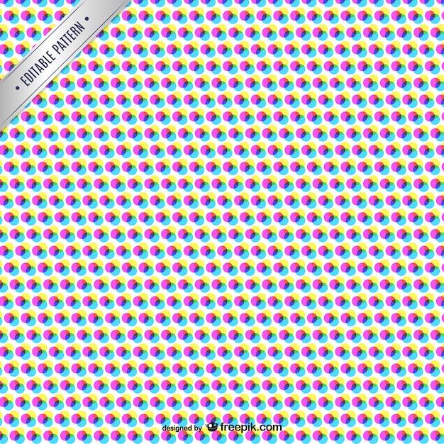 cmyk abstrakte muster mit farbpunkten download der kostenlosen vektor. Black Bedroom Furniture Sets. Home Design Ideas