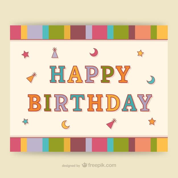 CMYK Bunte Geburtstagskarte | Download der kostenlosen Vektor