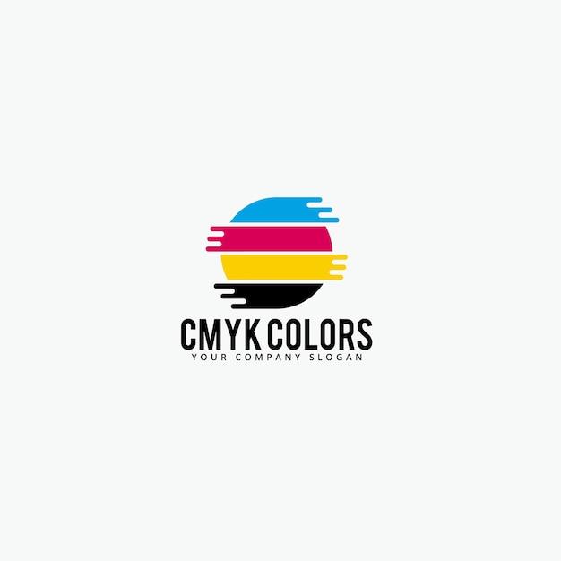 Cmyk farben logo Premium Vektoren