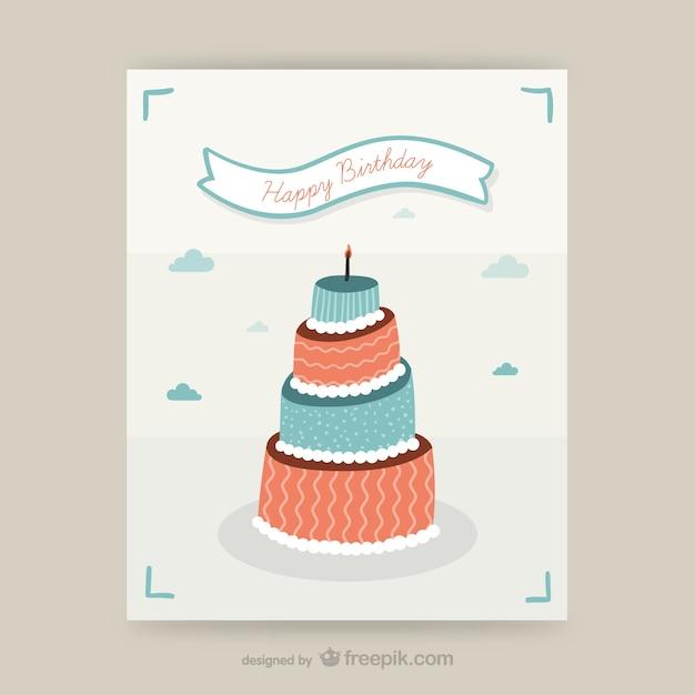 Geburtstag karte design
