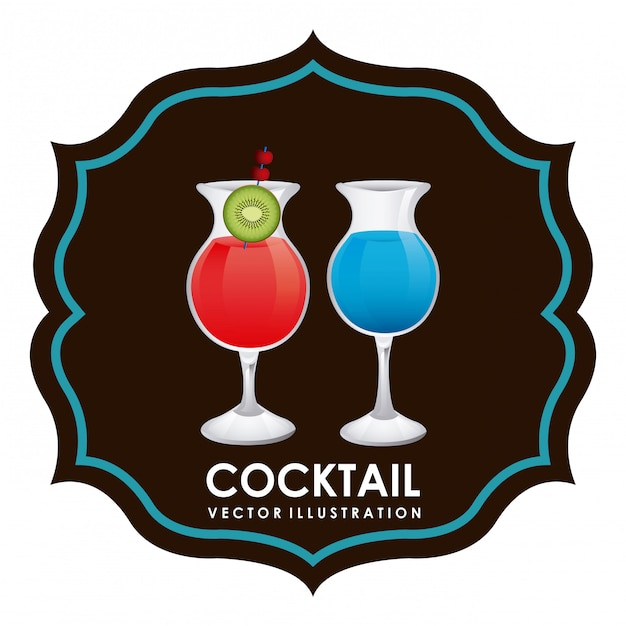 Cocktail-grafik-design-vektor-illustration Kostenlosen Vektoren