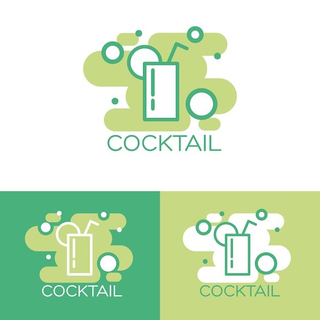 Cocktail-logo-konzeption. Kostenlosen Vektoren