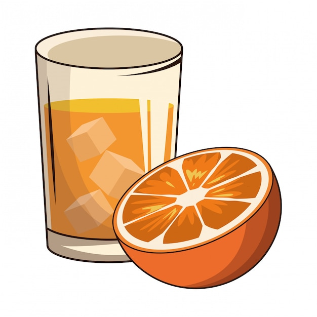 Cocktail mit orange Premium Vektoren