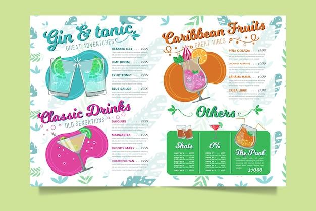 Cocktailkarte Kostenlosen Vektoren