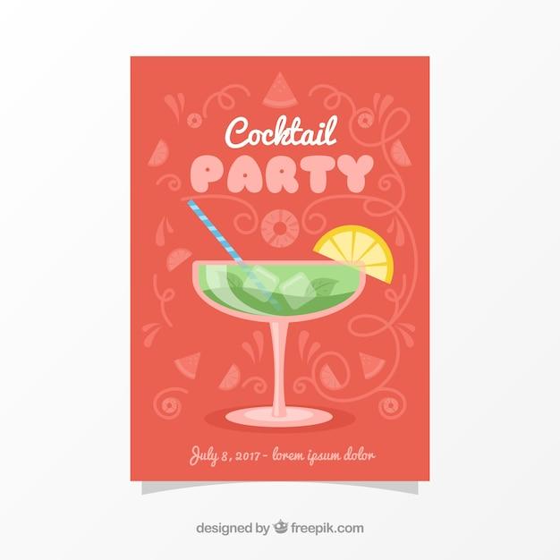Cocktailparty broschüre Kostenlosen Vektoren