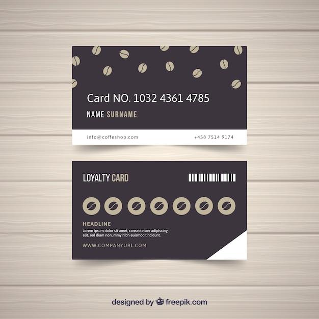Coffee-shop-loyalität kartenvorlage Kostenlosen Vektoren