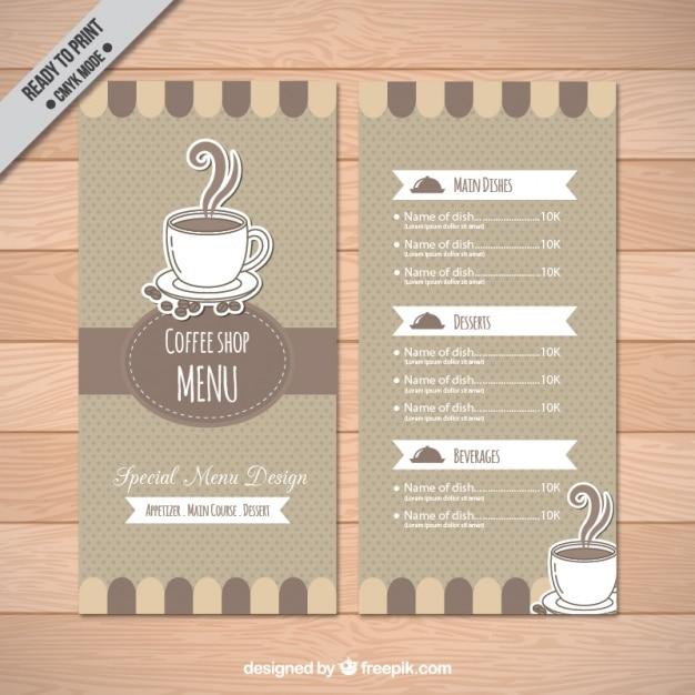Coffee-Shop-Menü-Vorlage | Download der kostenlosen Vektor