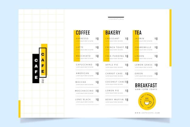 Coffeeshop-menüvorlage Premium Vektoren