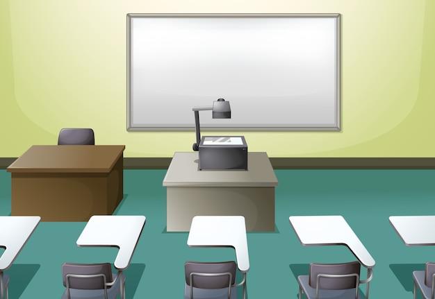 College-klassenzimmer Premium Vektoren