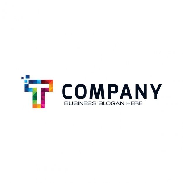 Colorful letter t logo Kostenlosen Vektoren